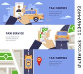 taxi service travel concept.... | Shutterstock .eps vector #1134694493