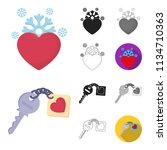 romantic relationship cartoon...   Shutterstock .eps vector #1134710363