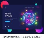 retro games website concept... | Shutterstock .eps vector #1134714263