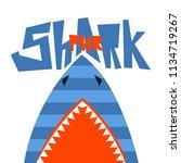 t shirt design shark power....   Shutterstock .eps vector #1134719267