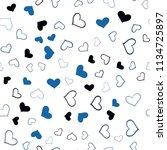 dark blue vector seamless... | Shutterstock .eps vector #1134725897