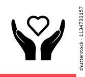 heart in hand vector icon   Shutterstock .eps vector #1134733157