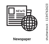 newspaper icon vector isolated... | Shutterstock .eps vector #1134762623