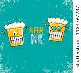 beer me vector concept...   Shutterstock .eps vector #1134767237