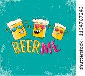 beer me vector concept...   Shutterstock .eps vector #1134767243