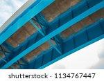 skyward view of interstate 95... | Shutterstock . vector #1134767447