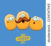 vector friends tiny potato... | Shutterstock .eps vector #1134767543