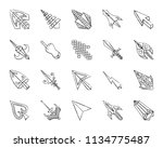 mouse cursor charcoal icons set.... | Shutterstock .eps vector #1134775487