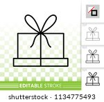 gift box thin line icon.... | Shutterstock .eps vector #1134775493