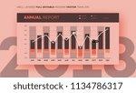 full editable infographic chart.... | Shutterstock .eps vector #1134786317