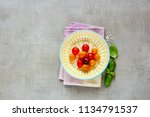 flat lay of colorful tomatoes... | Shutterstock . vector #1134791537