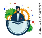 time management. working hours. ... | Shutterstock .eps vector #1134799277