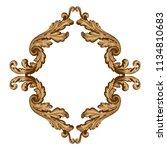 retro baroque decorations... | Shutterstock .eps vector #1134810683
