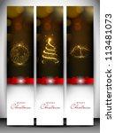 merry christmas website banner...   Shutterstock .eps vector #113481073