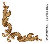 retro baroque decorations... | Shutterstock .eps vector #1134811037
