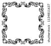 retro baroque decorations... | Shutterstock .eps vector #1134811637