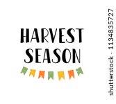 harvest season   hand drawn...   Shutterstock .eps vector #1134835727