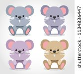baby animal collection   vector ... | Shutterstock .eps vector #1134836447