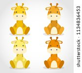 baby animal collection   vector ... | Shutterstock .eps vector #1134836453