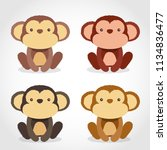 baby animal collection   vector ... | Shutterstock .eps vector #1134836477