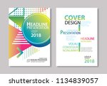 abstract modern geometric cover ... | Shutterstock .eps vector #1134839057