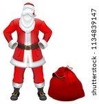 santa claus nobody christmas... | Shutterstock .eps vector #1134839147