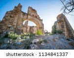 exploring abandoned ghost town...   Shutterstock . vector #1134841337