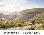 horseback riding tour to real...   Shutterstock . vector #1134841343