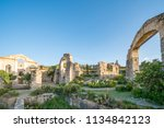 wide angle view of ruins at...   Shutterstock . vector #1134842123