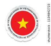 vietnam flag vector.vietnam... | Shutterstock .eps vector #1134842723