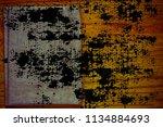 ultra orange postcard sample ... | Shutterstock . vector #1134884693