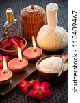 spa still life with exfoliation ... | Shutterstock . vector #113489467
