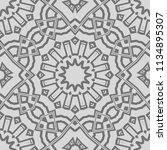 seamless floral geometric... | Shutterstock .eps vector #1134895307