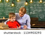 some students learn best by... | Shutterstock . vector #1134903293