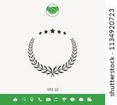 laurel wreath with five stars   ... | Shutterstock .eps vector #1134920723