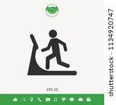 man on treadmill icon | Shutterstock .eps vector #1134920747