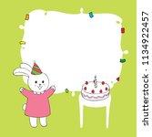 cartoon cute rabbit happy...   Shutterstock .eps vector #1134922457