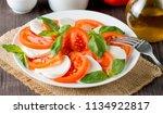 close up photo of caprese salad ... | Shutterstock . vector #1134922817