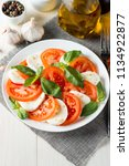 close up photo of caprese salad ... | Shutterstock . vector #1134922877