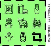 simple 9 icon set of farm... | Shutterstock .eps vector #1134958253