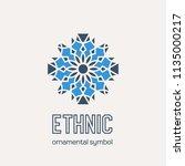 mosaic arabic ornament. vector... | Shutterstock .eps vector #1135000217