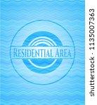 residential area sky blue water ... | Shutterstock .eps vector #1135007363