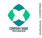 letter x abstract company logo... | Shutterstock .eps vector #1135007843