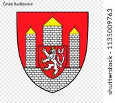 emblem of ceske budejovice.... | Shutterstock .eps vector #1135009763