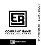 eb initial box letter logo... | Shutterstock .eps vector #1135015277