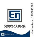 ed initial box letter logo... | Shutterstock .eps vector #1135015283
