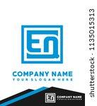 eq initial box letter logo... | Shutterstock .eps vector #1135015313