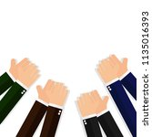 business hands clapping   Shutterstock .eps vector #1135016393