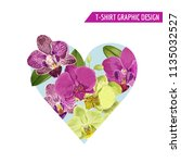 love romantic floral heart... | Shutterstock .eps vector #1135032527