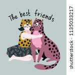 friendly poster design with... | Shutterstock .eps vector #1135033217